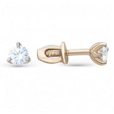 Золотые пусеты с бриллиантами