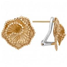 Золотые серьги бренда Roberto Bravo