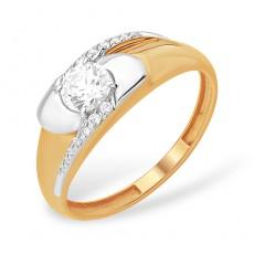 Кольцо из золота 585 пробы с фианитом