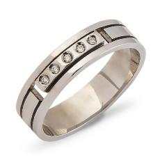 Обручальное кольцо 5 бриллиантов
