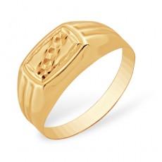 Кольцо печатка из золота 585 пробы без вставок