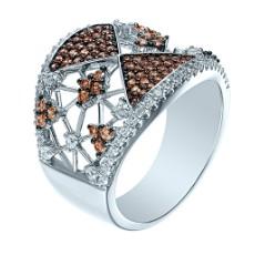 Кольцо с цветным кубическим цирконием