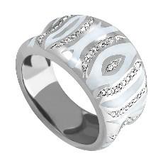 Кольцо с бриллиантами и цветной эмалью
