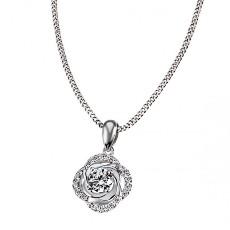 Кулон «Роза» с фианитами на цепочке