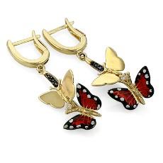 Серьги Monarch Butterfly