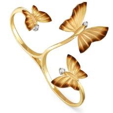 "Кольцо на два пальца ""Танец бабочек"""
