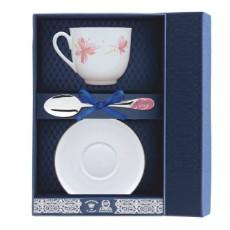 Набор чайный Ландыш-розовые цветы