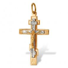 Крест из золота 585 пробы без вставок