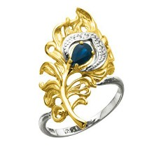 Кольцо Перо павлина