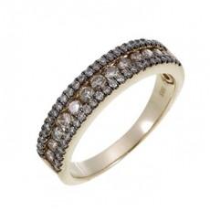 Золотое кольцо с фантазийными бриллиантами