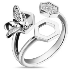 Кольцо из серебра 925 пробы с фианитами