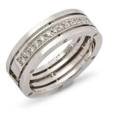 Обручальное кольцо с 12 бриллиантами