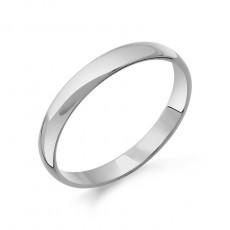Классическое обручальное кольцо из белого золота 3мм