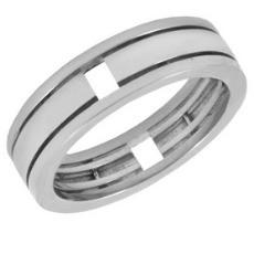Обручальное кольцо из белого золота без вставок