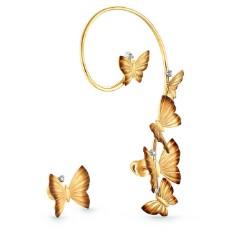 """Серьги кафф """"Танец бабочек"""""""