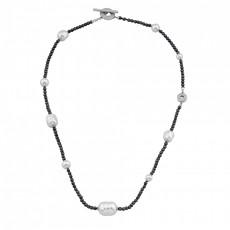 Серебряное колье с жемчугом Майорика