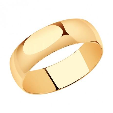 Широкое обручальное кольцо Sokolov 5 мм