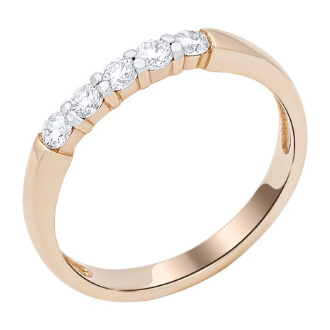 Обручальное кольцо с 5 бриллиантами