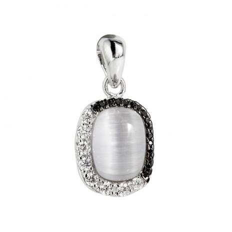 Кулон из серебра 925 пробы с тигровым глазом
