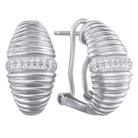Серьги из серебра с кубическим цирконием