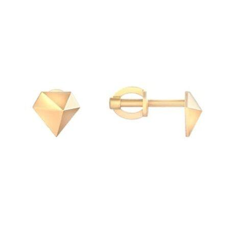 Пусеты из красного золота в стиле геометрия