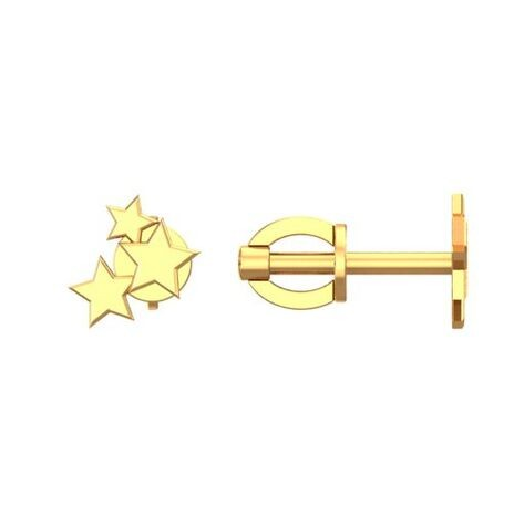 Золотые пусеты Звезды