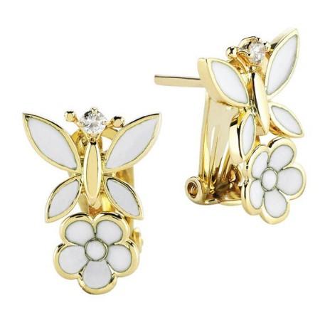 Серьги с бриллиантами и эмалью бренда Roberto Bravo