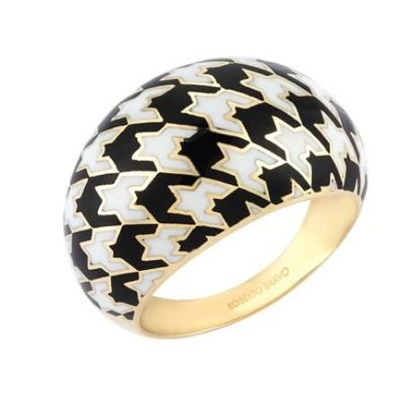 Золотое кольцо с эмалью бренда Roberto Bravo