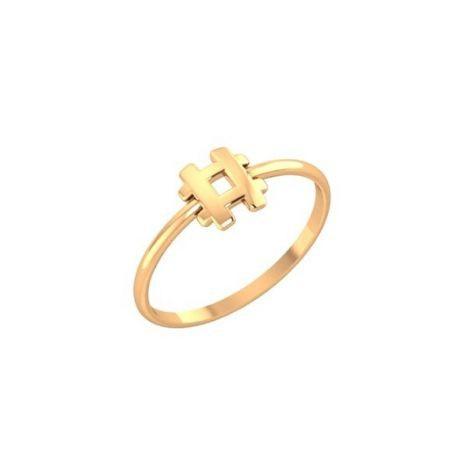 Золотое кольцо в стиле геометрия