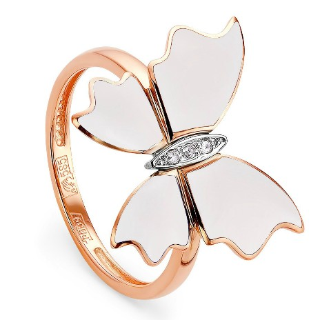 Кольцо Белые бабочки