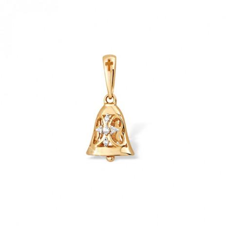 Кулон из золота 585 пробы с фианитом