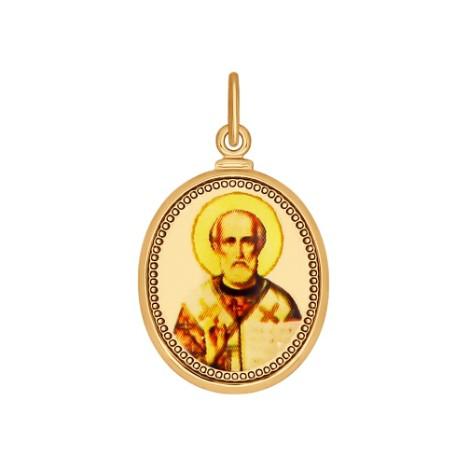 Подвеска золотая иконка