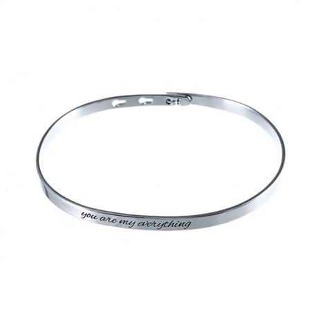 Жесткий браслет из серебра 925 пробы